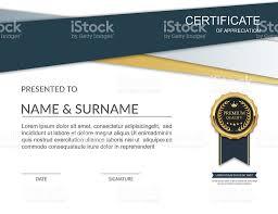 certificate template certificate of appreciation vector stock