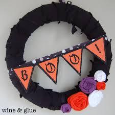 halloween wreath wine u0026 glue