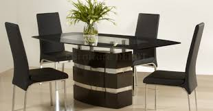 dining room likable dining table and chairs in black astounding