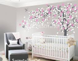 Tree Nursery Wall Decal Nursery Tree Decal Etsy