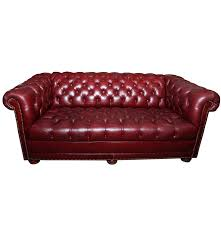 Brown Leather Chesterfield Sofa by Vintage Burgundy Leather Chesterfield Sofa Ebth