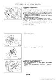 nissan murano wheel bearing brake rotor nissan patrol 1998 y61 5 g front suspension workshop