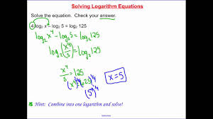 7 5 solving logarithm equations