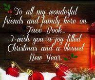 merry to all my friends and family