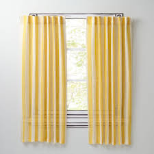 Yellow Curtains Nursery by Line Up Striped Linen Curtains Yellow The Land Of Nod