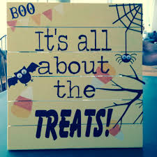 nice halloween trick or treat yard sign wooden yard stake yellow