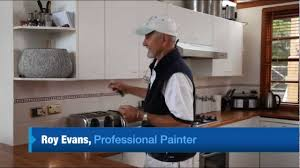 Professionally Painted Kitchen Cabinets by How To Paint Laminate Cupboards Youtube