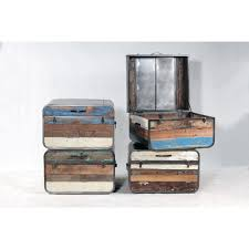 Reclaimed Boat Wood Furniture Retro Storage Trunk Coffee Table In Recycled Boatwood Side