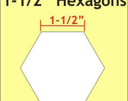 5 16 inch paper pieces hexagons pack of 200 templates