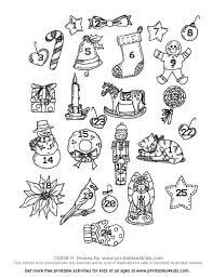 advent ornaments printables for free word