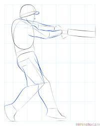 how to draw a cricket player step by step drawing tutorials