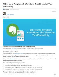 21 evernote templates workflows that skyrocket your productivity 1 638 jpg cb u003d1494841108