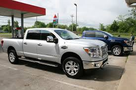 white nissan truck review nissan u0027s gas v8 titan xd has a few advantages over