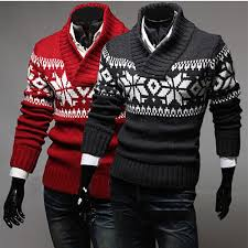 snowflake sweater mens snowflake turtleneck pullover thickening warm