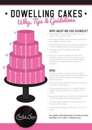 how to dowel a cake cakes pinterest cake decorating and