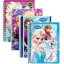 disney princess frozen a6 50 u0027s hard cover notebook blue