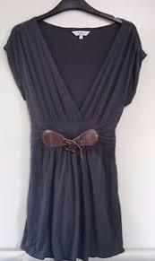 Drape Tunic Dress Lovely Grey Size 14 New Look Jersey Style Drape Tunic Dress Top Ebay