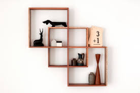 wooden wall mounted bookshelf