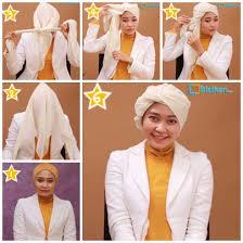 tutorial hijab resmi hijab cara memakai jilbab turban untuk acara formal