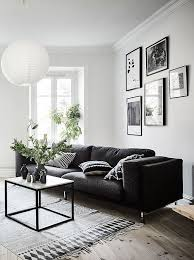 Black Sofa Living Room Living Room In Black White And Gray With Gallery Wall