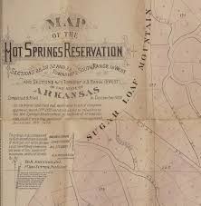 State Of Arkansas Map by Springs Arkansas Rare U0026 Antique Maps
