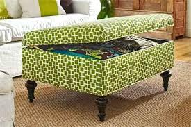 Storage Ottoman Fabric Square Tufted Storage Ottoman Fabric Green Storage Ottoman With