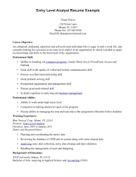 Career Focus Examples For Resume by Objective Resume Examples Entry Level Free Resume Example And