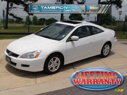 2007 honda accord coupe ex l 2007 taffeta white honda accord ex l coupe 31257234 gtcarlot