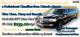 Car Service From Orlando Airport To Port Canaveral Suv Stretch Limo 1 12 Pass One Way From Orlando Airport To Port