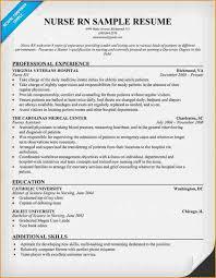 resume example for nurses med surg rn resume sample resume for