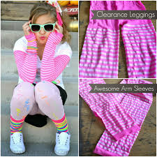how to make neon striped sleeves for your 80 u0027s costume halloween