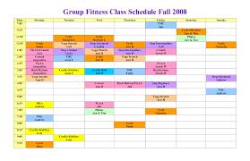 fitness class schedule template u2013 guiler workout