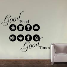 home wall decals about food and time for restaurant wall res