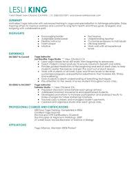 Sample Summary In Resume by Unforgettable Yoga Instructor Resume Examples To Stand Out