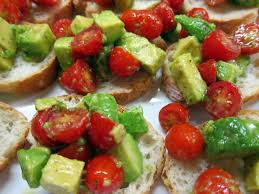 canape toast avocado and tomato canapé toasts revolution