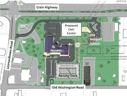 multi purpose civic center waldorf u0027s planned new event and