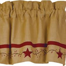 Primitive Curtians by Country Valances For Kitchen Gallery Also Primitive Curtains And