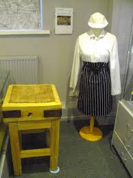 saturday opening 6th february 2016 daventry museum old butcher s block and butcher s outfit loaned by gilling s butchers bowen square daventry
