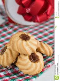 christmas cookies kuraby gift box behind stock photography