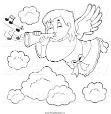 royalty free stock angel designs of printable coloring pages