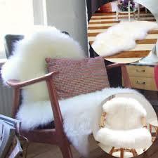 fur chair cover pelt genuine sheepskin rug chair cover seat pad real