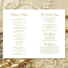 Wedding Anniversary Program Wedding Program Template Vintage Gold 8 5 X 11