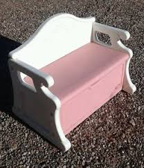 Bench Toybox Vintage Little Tikes Child Size Toy Box Bench Pink Victorian