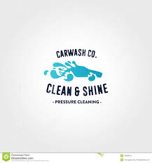 car wash logo template stock vector image 44968910