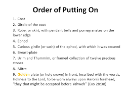 12 stones of ephod breastplate the priests and their garments exodus 28 2 and thou shalt make