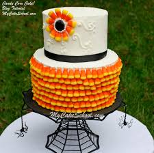 halloween candy cake candy corn cake a cake decorating blog tutorial my cake