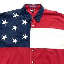 Tommy Hilfiger Flag Tommy Hilfiger American Flag Button Down Shirt Sz Xl U2013 Sgmc Snap