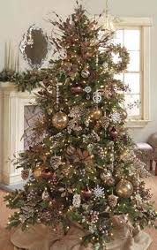 brown chocolate copper and gold ornaments for the color theme of