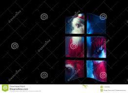 the glass door santa claus behind the glass door royalty free stock image image