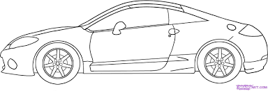 ferrari sketch side view 6 how to draw a mitsubishi eclipse car